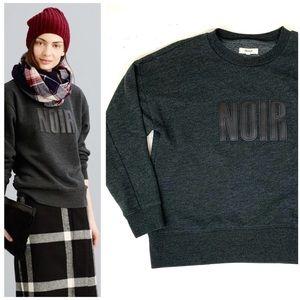 Madewell Noir Crew Neck Sweatshirt